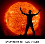 Worship To Sun. Element Of...