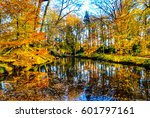 beautiful landscape of colorful ... | Shutterstock . vector #601797161