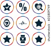 rate icons set. set of 9 rate... | Shutterstock .eps vector #601809749