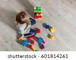 unrecognizable child girl... | Shutterstock . vector #601814261