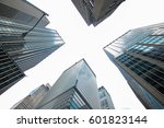low angle view of skyscrapers... | Shutterstock . vector #601823144