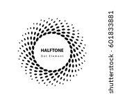 halftone vector element | Shutterstock .eps vector #601833881