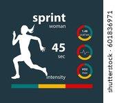 infographics woman running... | Shutterstock .eps vector #601836971