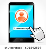 illustration of message on... | Shutterstock .eps vector #601842599