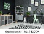 modernly designed apartment... | Shutterstock . vector #601843709
