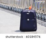 A bag at the airport - stock photo