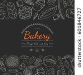 horizontal seamless background...   Shutterstock .eps vector #601846727