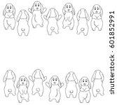 vector white black contour... | Shutterstock .eps vector #601852991
