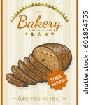 vector poster with a bread... | Shutterstock .eps vector #601854755