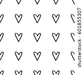 abstract heart pattern with... | Shutterstock . vector #601855307