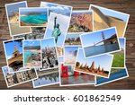 world landmarks collage   photo ... | Shutterstock . vector #601862549