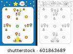 preschool worksheet for... | Shutterstock .eps vector #601863689