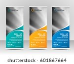roll up banner stand template... | Shutterstock .eps vector #601867664
