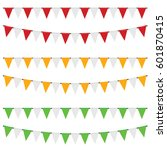party flags set in color... | Shutterstock .eps vector #601870415