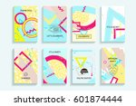 universal abstract posters set. ...   Shutterstock .eps vector #601874444