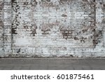 urban background  white ruined... | Shutterstock . vector #601875461