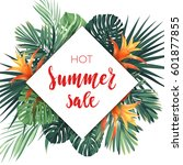 bright summer sale design with... | Shutterstock .eps vector #601877855