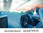 hand cleaning the car interior... | Shutterstock . vector #601879925