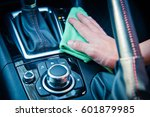 hand cleaning the car interior... | Shutterstock . vector #601879985