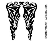 vector tribal tattoo designs.... | Shutterstock .eps vector #601882385