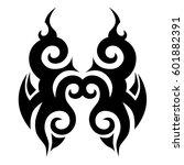 vector tribal tattoo designs.... | Shutterstock .eps vector #601882391
