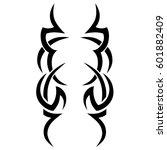 vector tribal tattoo designs.... | Shutterstock .eps vector #601882409