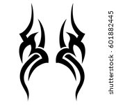 Tattoo tribal vector designs sketch. Simple logo. Designer isolated element for ideas decorating the body of women, men and girls arm, leg and other body parts. Abstract illustration. | Shutterstock vector #601882445