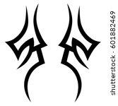 vector tribal tattoo designs.... | Shutterstock .eps vector #601882469