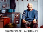 old man sitting by his tile... | Shutterstock . vector #60188254