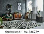 scandinavian style in modern... | Shutterstock . vector #601886789