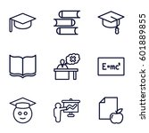 university icons set. set of 9... | Shutterstock .eps vector #601889855