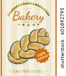 vector poster with a bread... | Shutterstock .eps vector #601892795