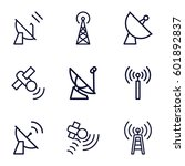 transmission icons set. set of... | Shutterstock .eps vector #601892837