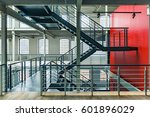 industrial building interior... | Shutterstock . vector #601896029