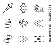 forward icons set. set of 9... | Shutterstock .eps vector #601897391