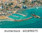 sea port city of larnaca ... | Shutterstock . vector #601898375