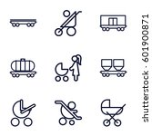 carriage icons set. set of 9... | Shutterstock .eps vector #601900871