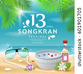 songkran festival summer of... | Shutterstock .eps vector #601901705