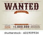 wanted western movie poster ... | Shutterstock .eps vector #601909934
