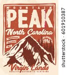 college. trekking. vintage tee... | Shutterstock .eps vector #601910387
