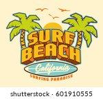 surf. surfer and big wave. surf ... | Shutterstock .eps vector #601910555