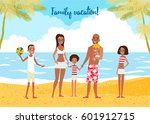 big african american family on... | Shutterstock .eps vector #601912715