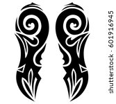vector tribal tattoo designs....   Shutterstock .eps vector #601916945