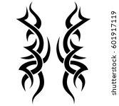tattoo tribal vector designs... | Shutterstock .eps vector #601917119