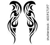 tattoo tribal vector  art... | Shutterstock .eps vector #601917197