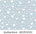 seamless pattern hearts.... | Shutterstock .eps vector #601921541