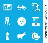 drawing icons set. set of 9...