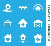 roof icons set. set of 9 roof...   Shutterstock .eps vector #601929851