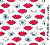 stylish 80s seamless pattern... | Shutterstock .eps vector #601931369