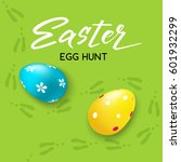 happy easter hunt handdrawn... | Shutterstock .eps vector #601932299